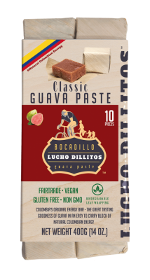 Lucho Dillitos Bocadillo's - Colombian Guava Energy Bar - Original 10 pack