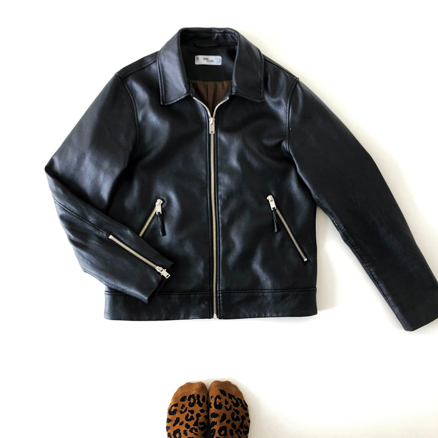 LEATHER JACKET CLASSIC OPEN