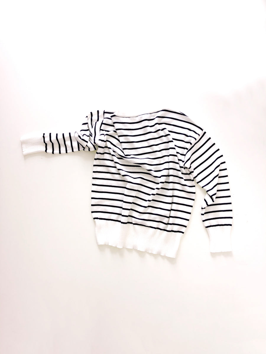 PULL ESSENTIAL STRIPED BLACK/WHITE