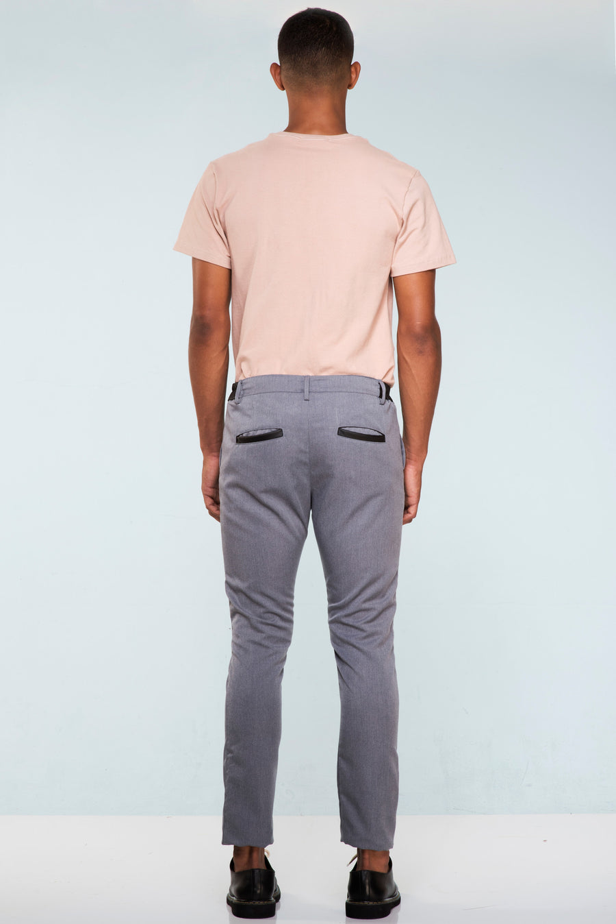 CALÇA SLIM FIT TAILORED MESCLA LEATHER COS