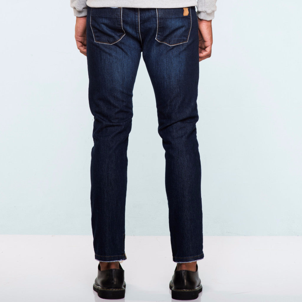 JEANS SLIM FIVE POCKETS RAW ZÍPER