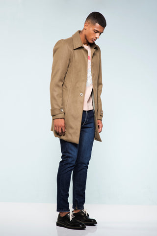 CASACO SLIM-FIT CAMEL WOOL