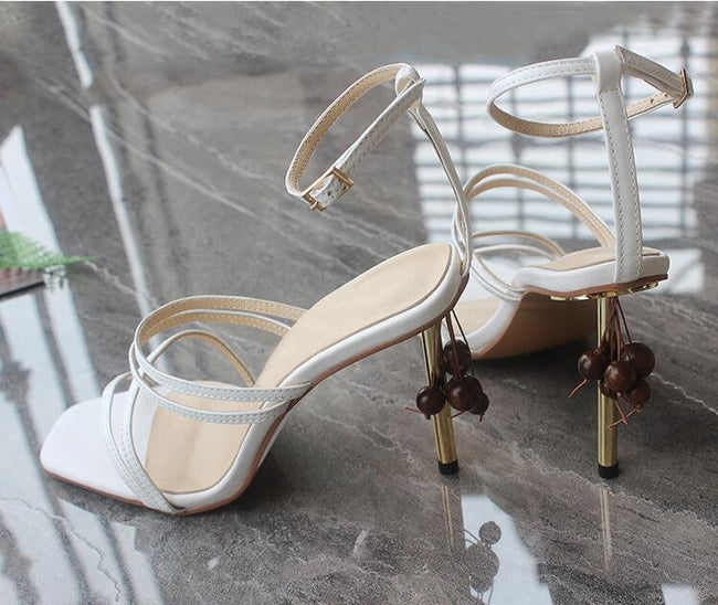 Ankle Strappy Stilletto Heels with fringe