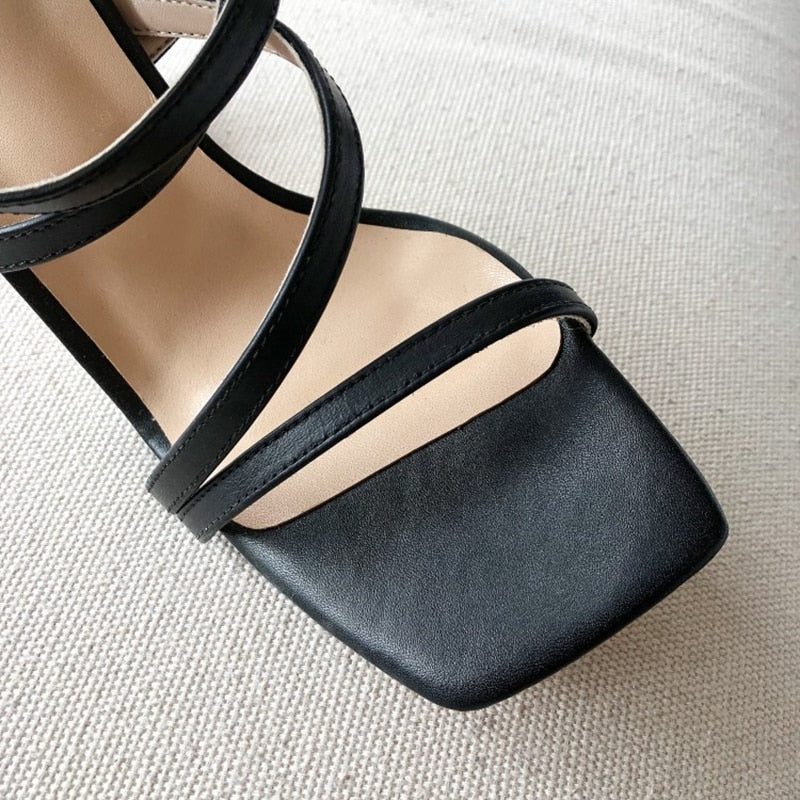 Gena Building Blocks Squared Heels