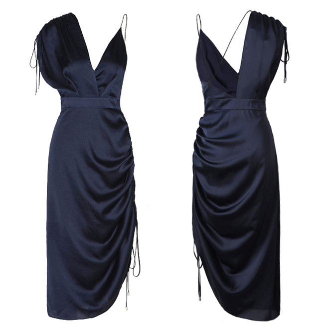 Sexy Backless Asymetrical Dress Women Sleeveless