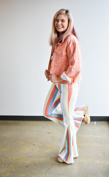 Spring Candy Stripes Bell Bottoms