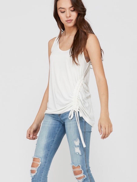 Chill Out Sleeveless Gathered Tank
