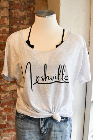 Nashville Heart Graphic Tee
