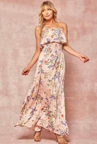 Endless Summer Blush Floral Sundress5