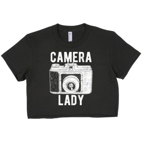 Camera Lady Short sleeve crop top - how to grow a photography business