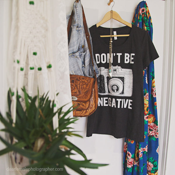 Don't Be Negative Ladies' short sleeve t-shirt - how to grow a photography business