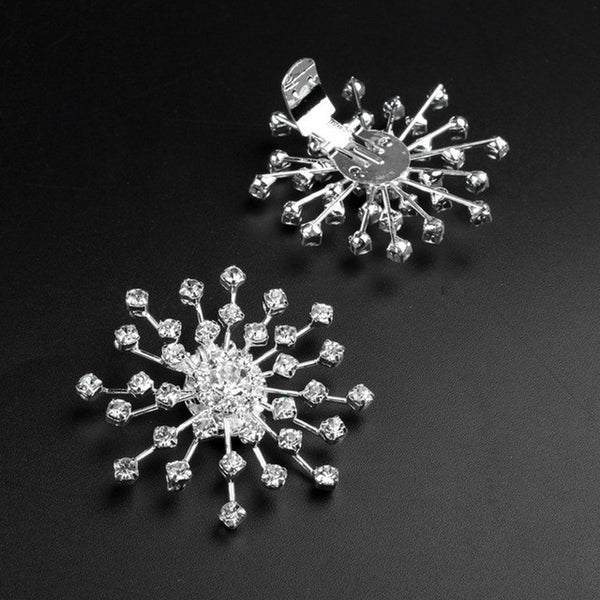 Rhinestone Starburst Shoe Clips - Luna's Warehouse
