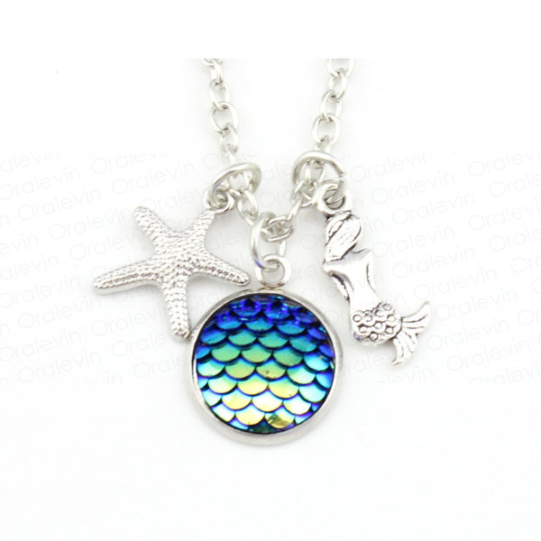 Mermaid Fish Scale Necklace - Luna's Warehouse
