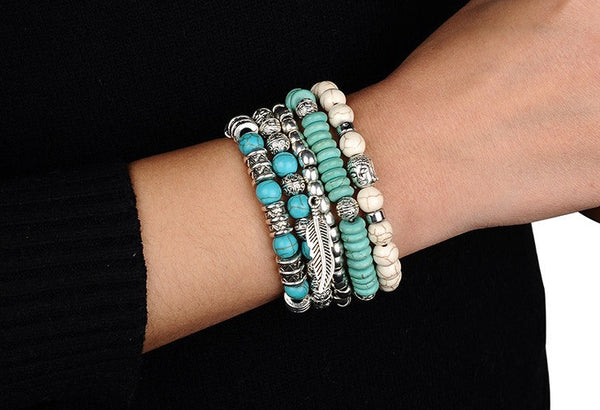 Buddha Bead Bracelet Set - Luna's Warehouse