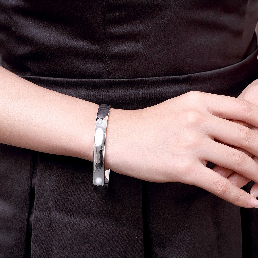 Silver Bangle Bracelet - Luna's Warehouse