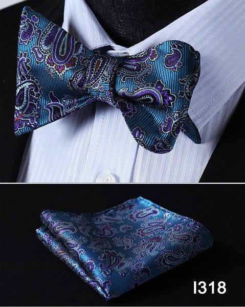 2 Piece Bow Tie & Pocket Square Set - Luna's Warehouse