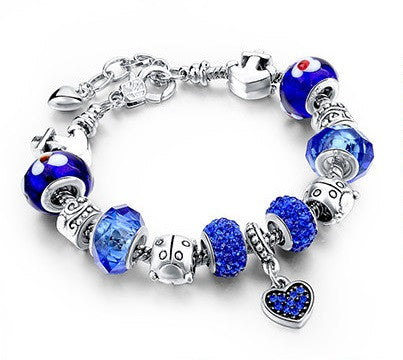 Beaded Charm Bracelet - Luna's Warehouse