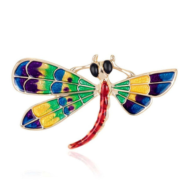 Dragonfly Multicolored Brooch - Luna's Warehouse