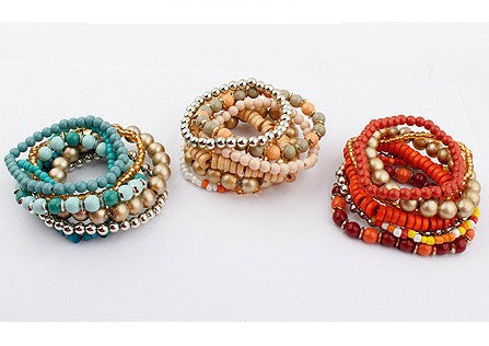 Simone Beaded Bracelet Set - Luna's Warehouse