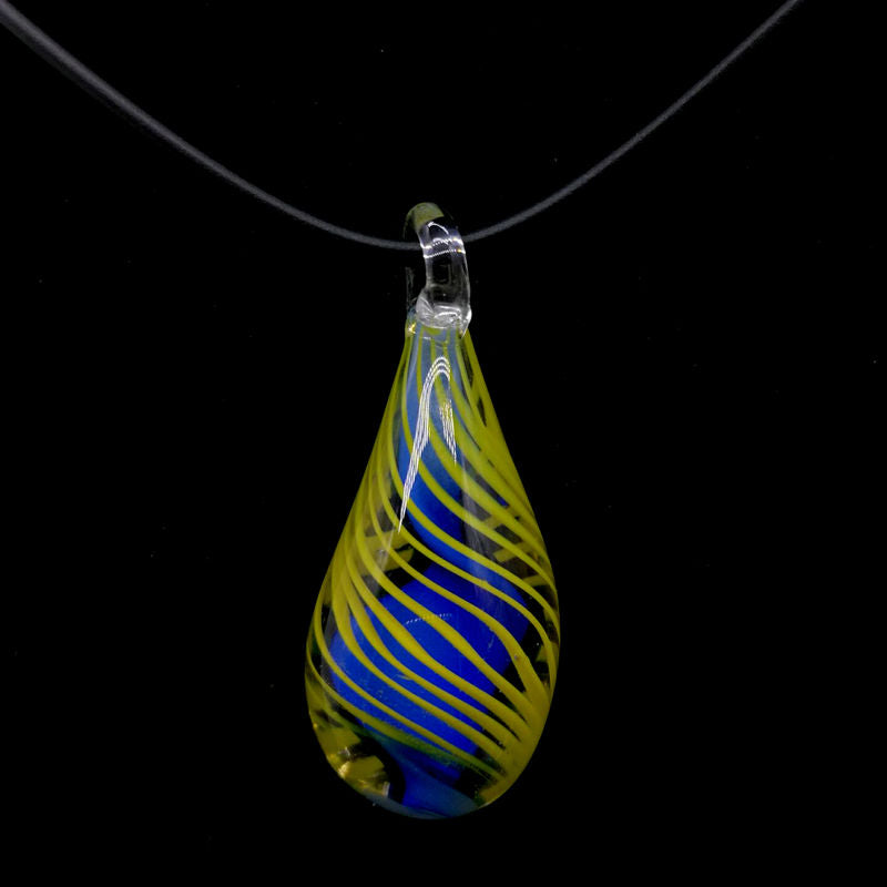 Tear Drop Glass Pendant Necklace - Luna's Warehouse
