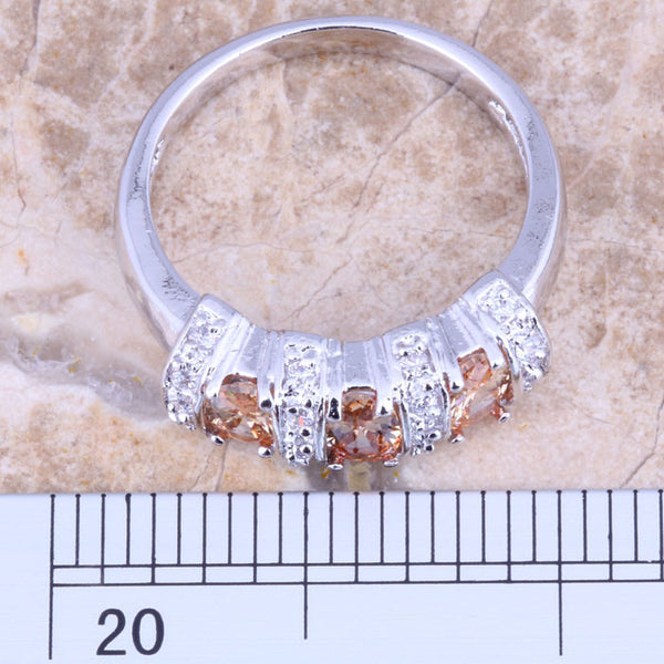 Morganite and Topaz Ring - Luna's Warehouse
