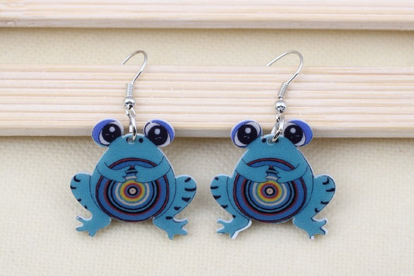 Frog Drop Earrings - Luna's Warehouse