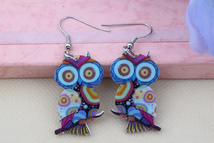 Owl Drop Earrings - Luna's Warehouse