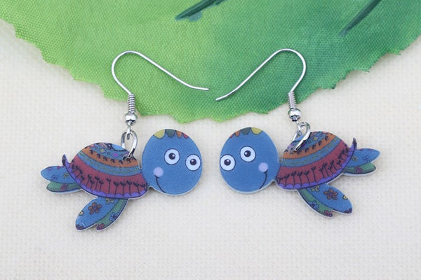 Turtle Drop Earrings - Luna's Warehouse