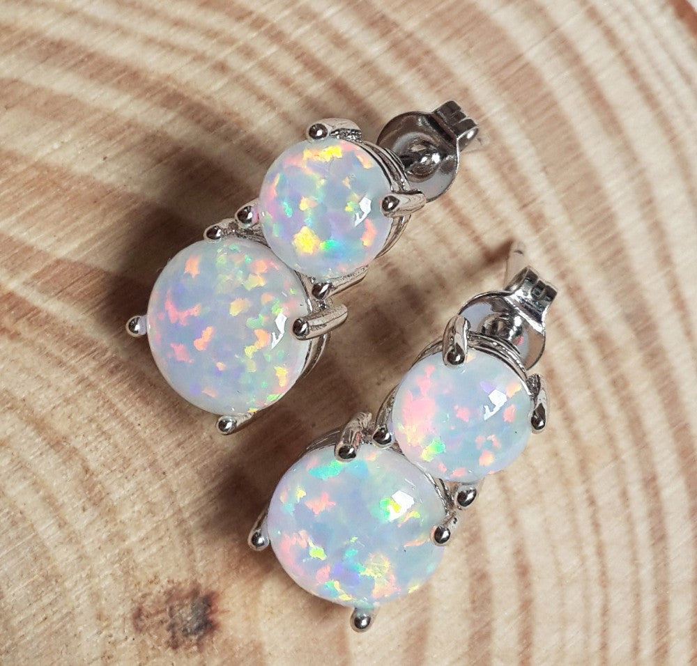 Fire Opal Drop Earrings - Luna's Warehouse