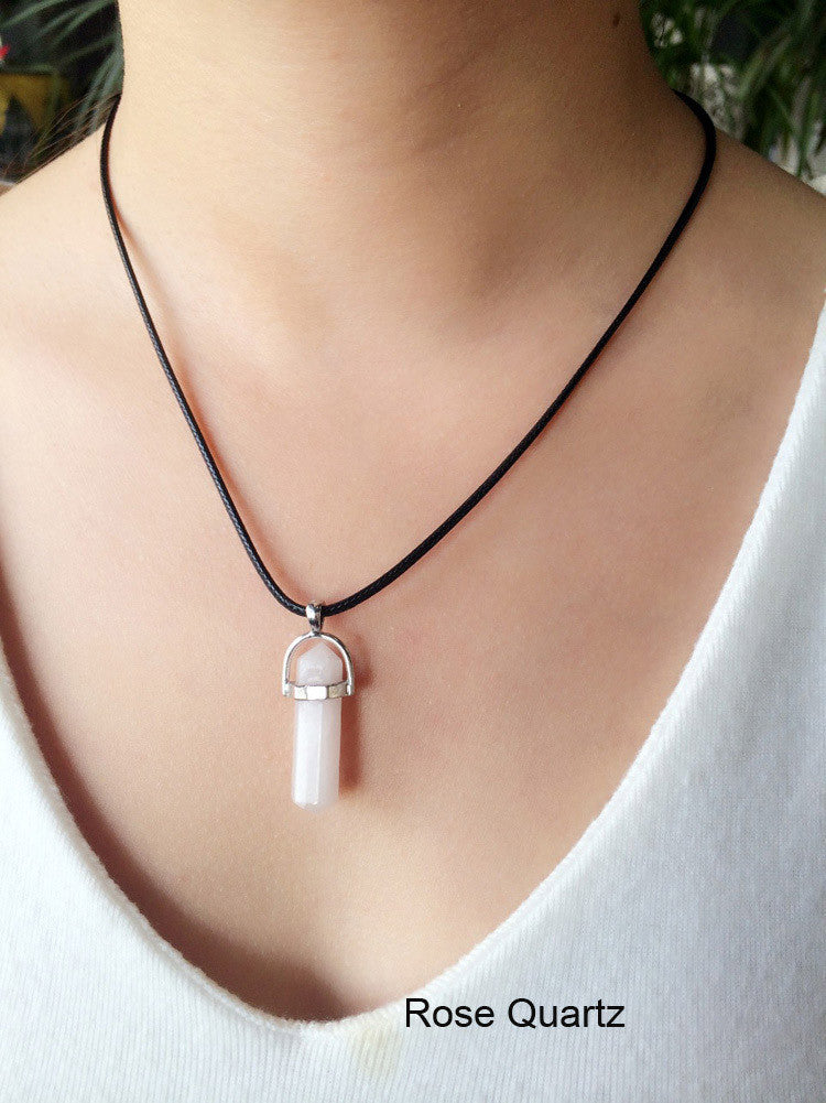 Quartz Pendant Necklace - Luna's Warehouse