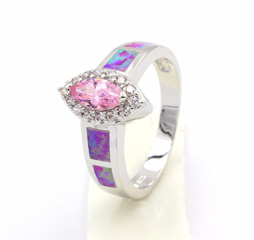 Pink Cubic Zirconia Ring - Luna's Warehouse
