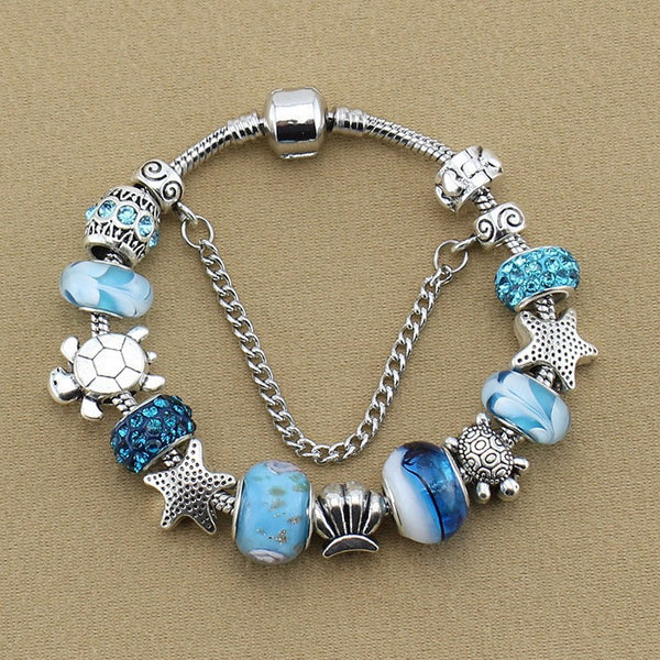 Beaded Sea Life Bracelet - Luna's Warehouse
