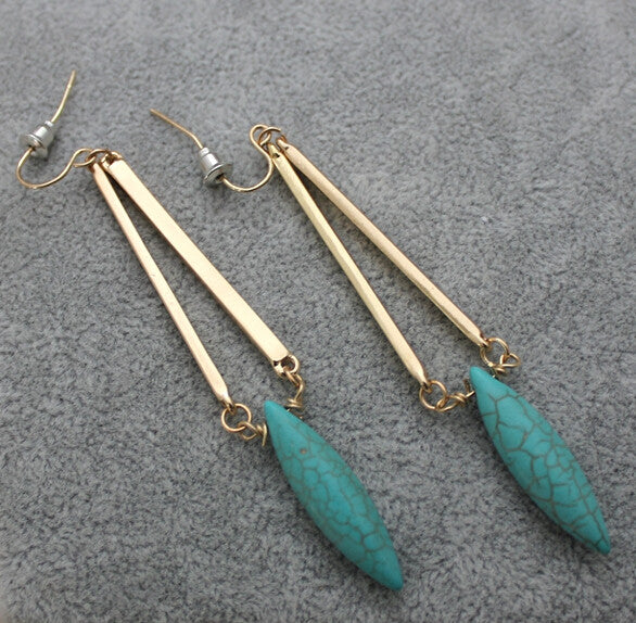 Turquoise Drop Earrings - Luna's Warehouse