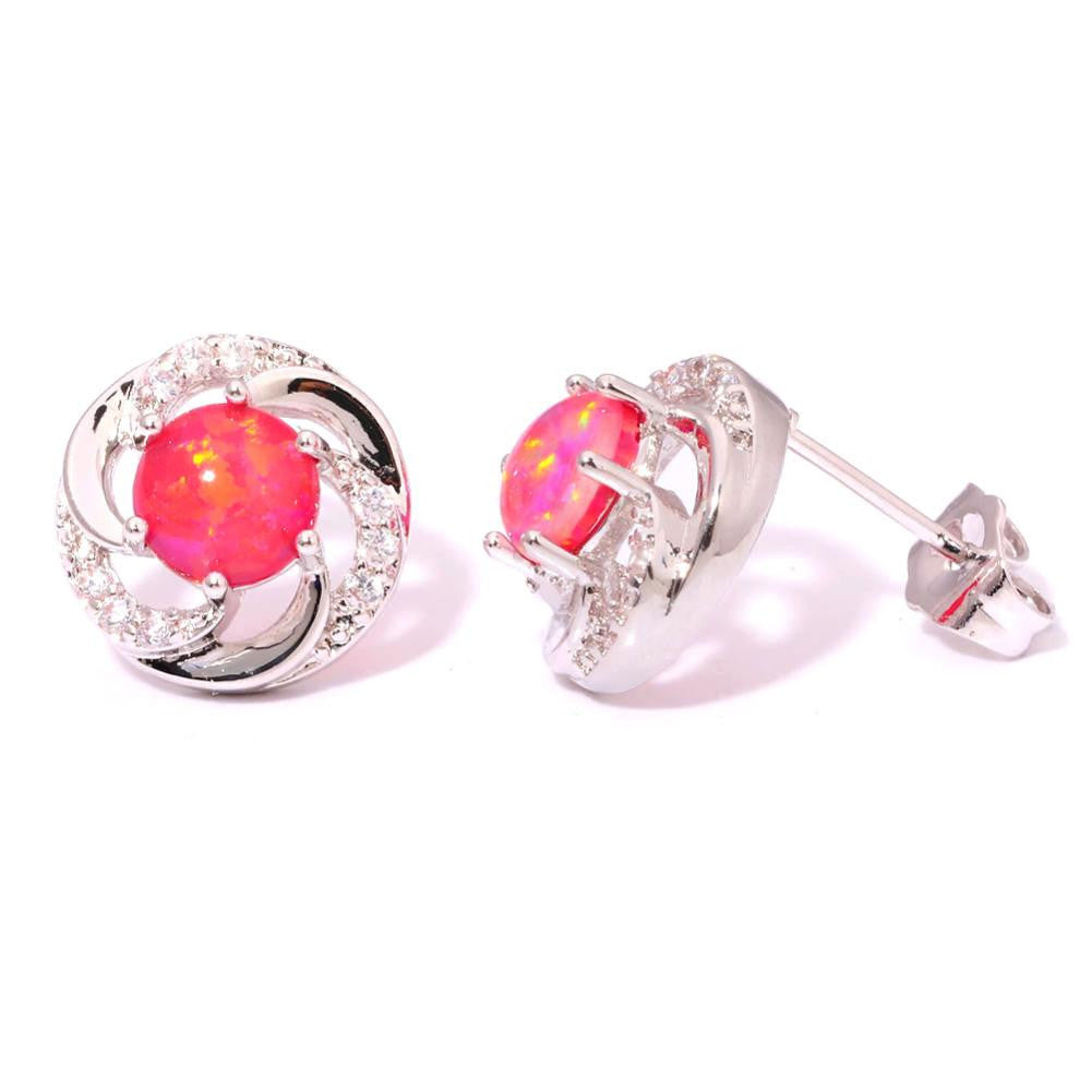 Red Opal Earrings - Luna's Warehouse