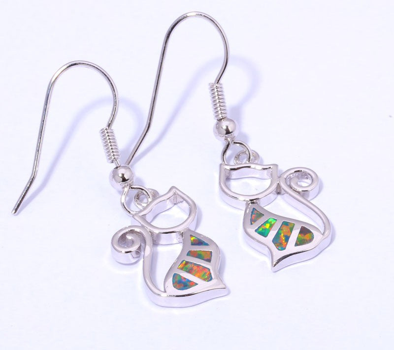 Cat Drop Earrings - Luna's Jewelry Warehouse - 3
