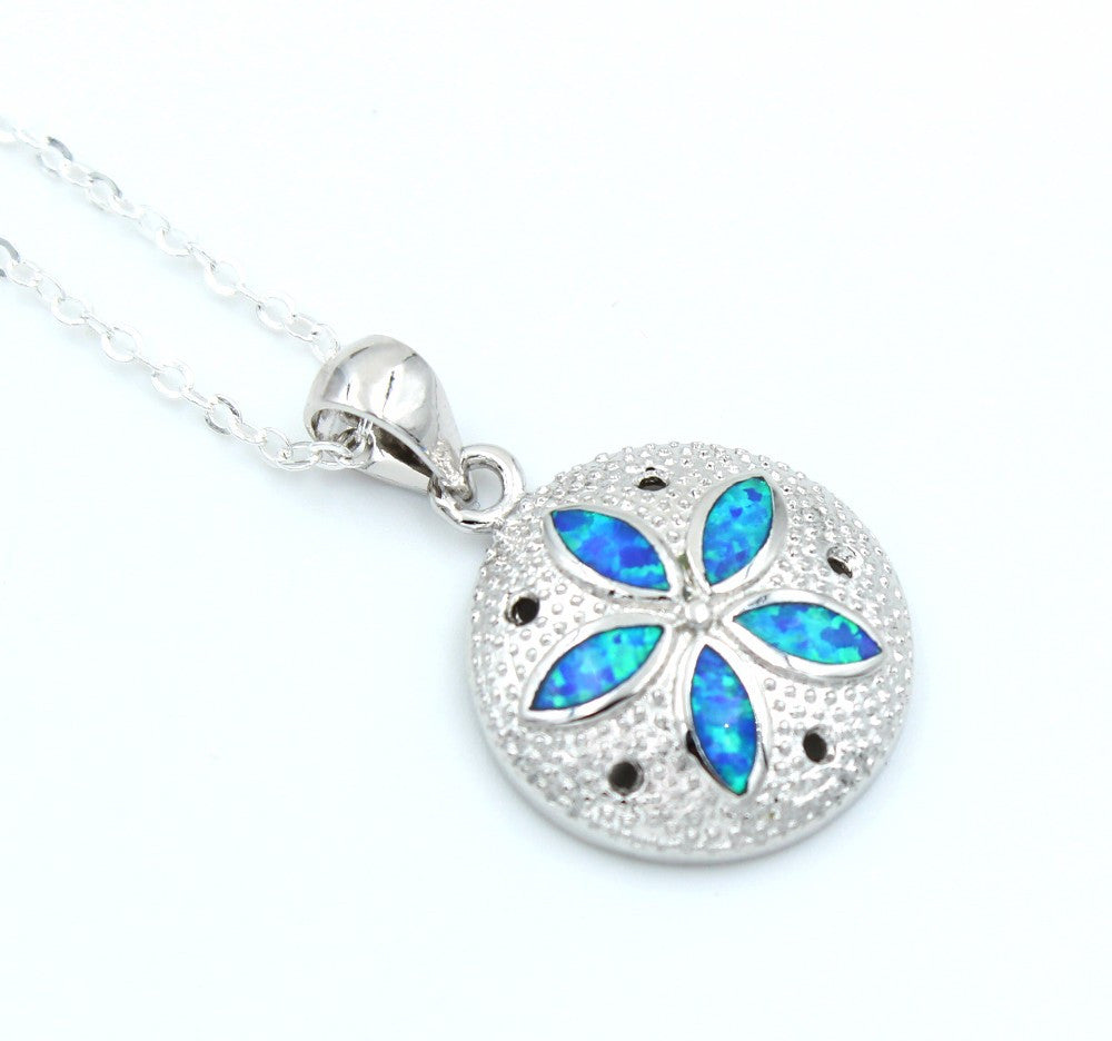 Sand Dollar Necklace or Earrings - Luna's Jewelry Warehouse - 4