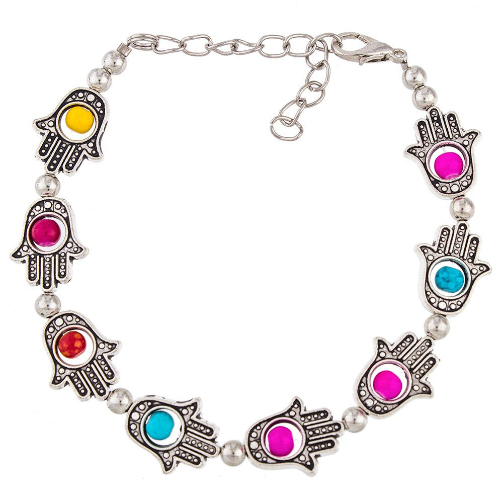 Beaded Hamsa Bracelet - Luna's Warehouse