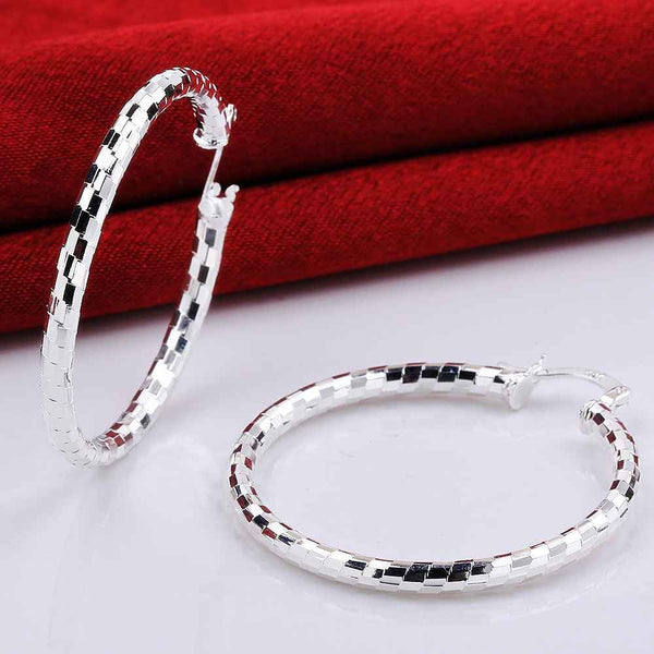 Sterling Silver Twisted Hoop Earrings - Luna's Warehouse