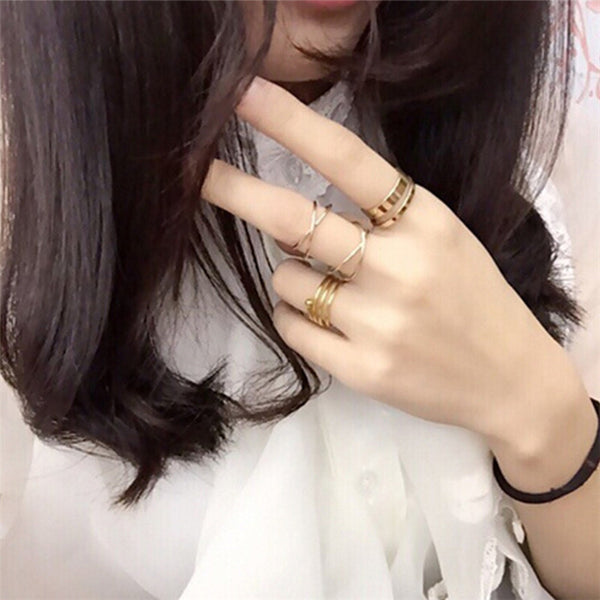 6 Piece Midi Ring Set - Luna's Warehouse