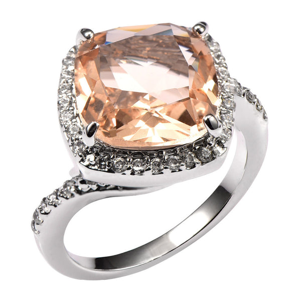 Oversized Morganite Cocktail Ring - Luna's Warehouse