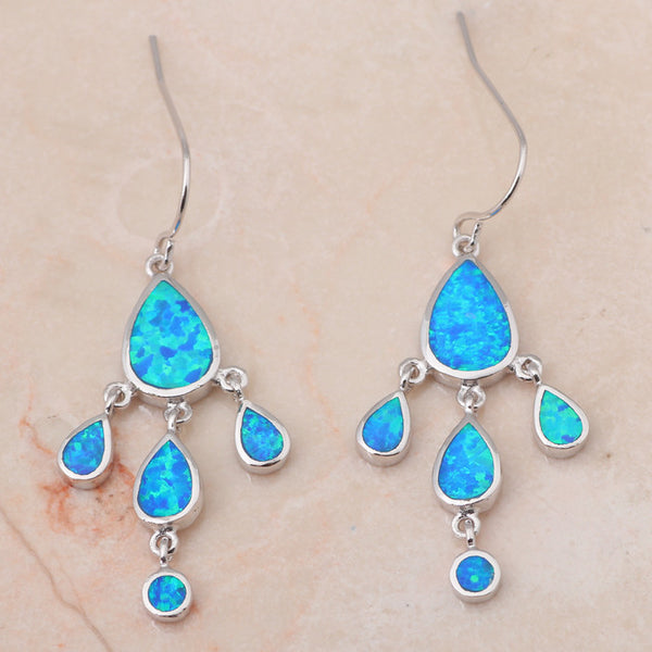 Chandelier Fire Opal Drop Earrings - Luna's Warehouse