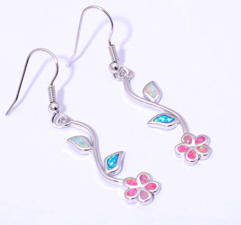 Stemmed Flower Drop Earrings - Luna's Warehouse