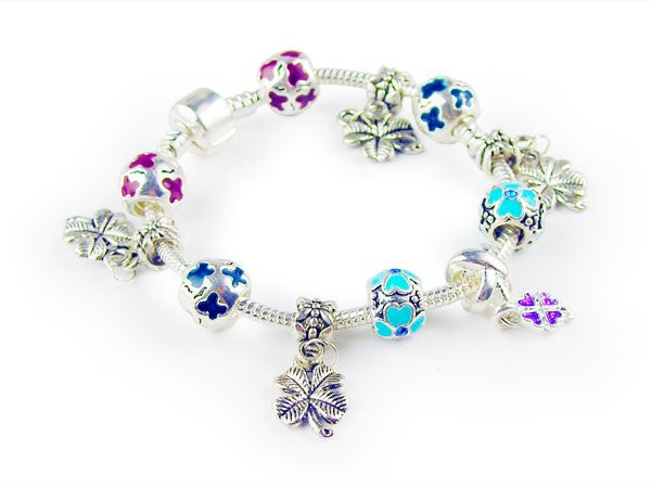 Beaded Clover Bracelet - Luna's Warehouse