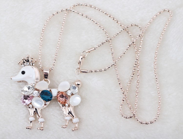Poodle Pendant Necklace - Luna's Warehouse