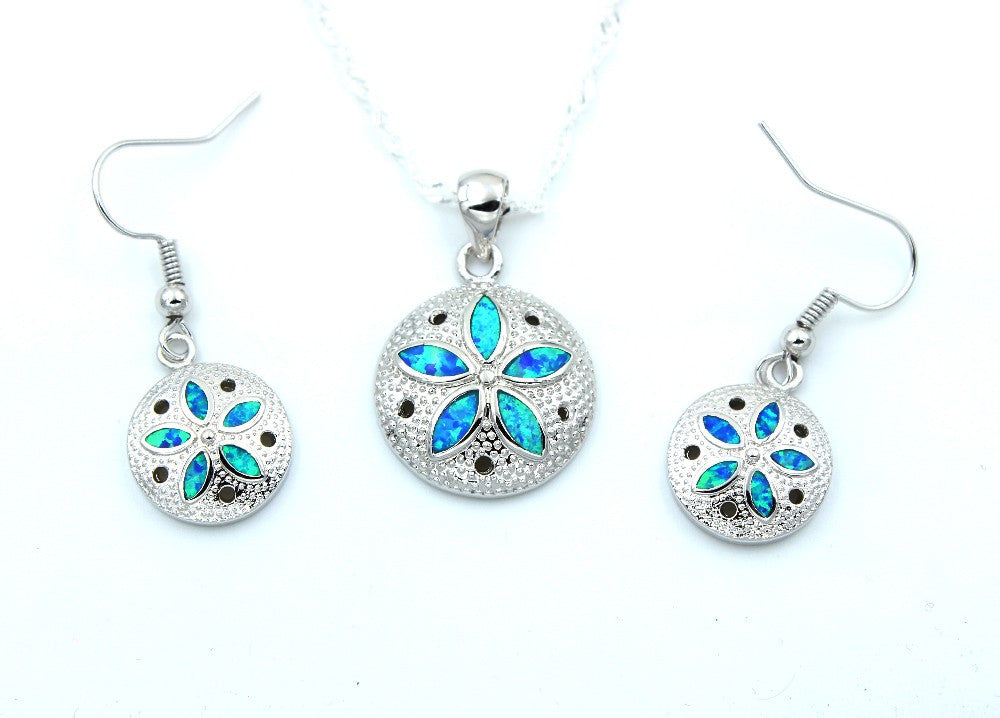 Sand Dollar Necklace or Earrings - Luna's Jewelry Warehouse - 1