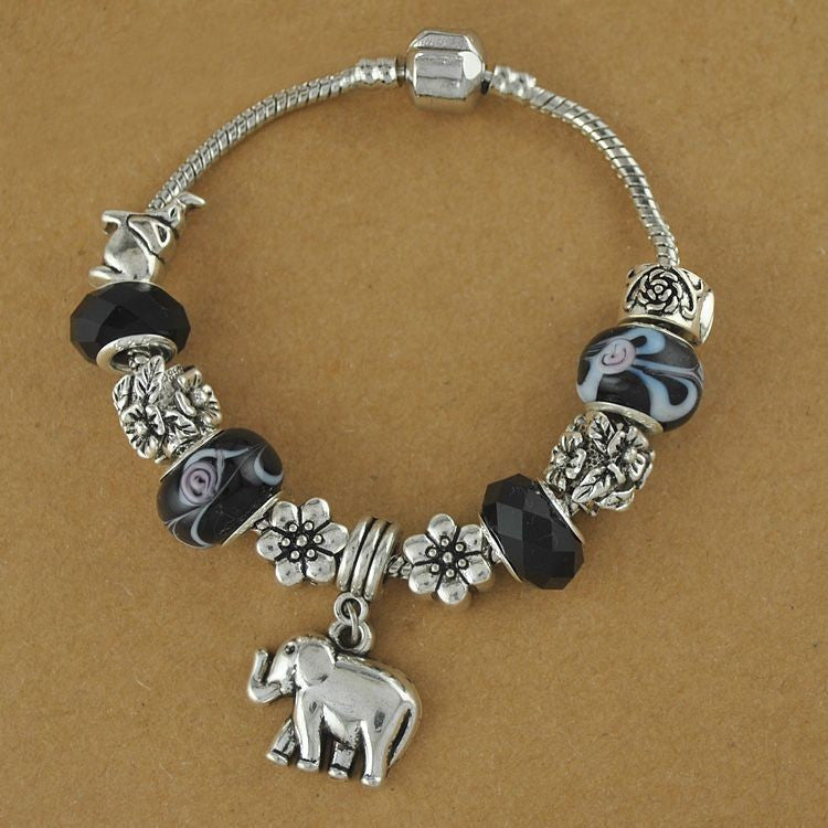 style elephant dangle az lucky jewelry bracelet charms silver sstr bali charm bling
