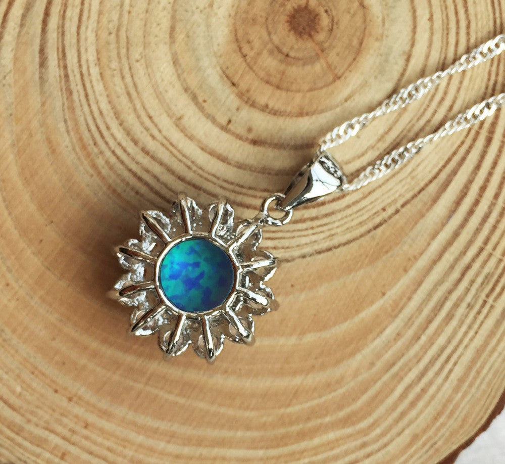 chain pendant stingray opal products necklace fire sterling image silver product without blue