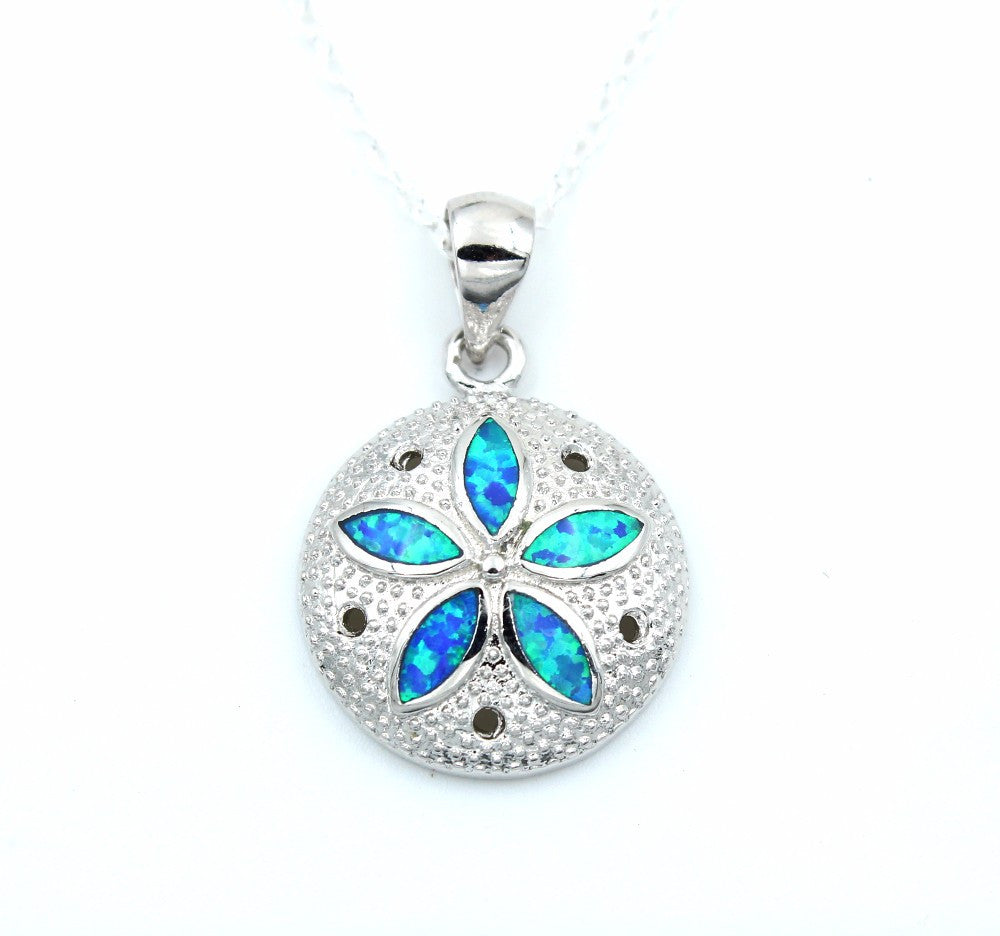 Sand Dollar Necklace or Earrings - Luna's Jewelry Warehouse - 3