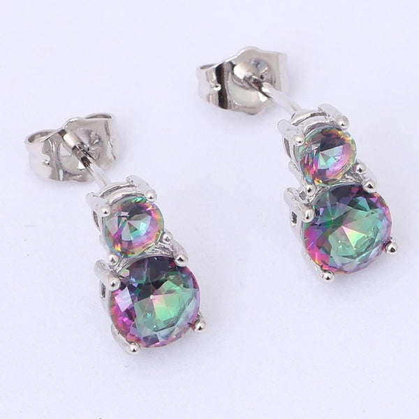 Mystic Topaz Drop Earrings - Luna's Warehouse