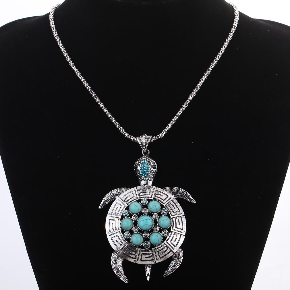 Sea Turtle Pendant Necklace - Luna's Warehouse